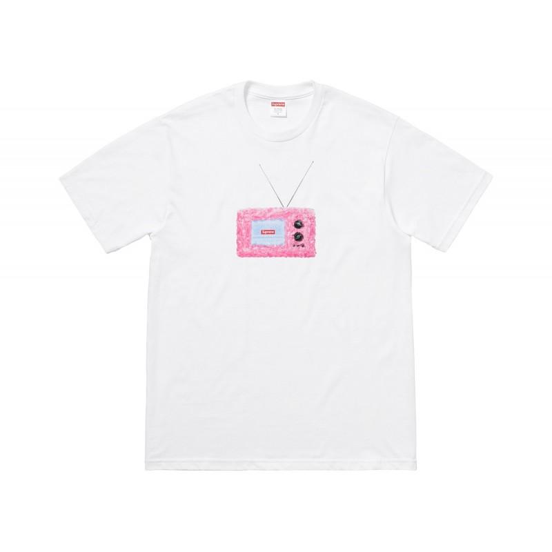 Supreme TV T-shirt Blanc
